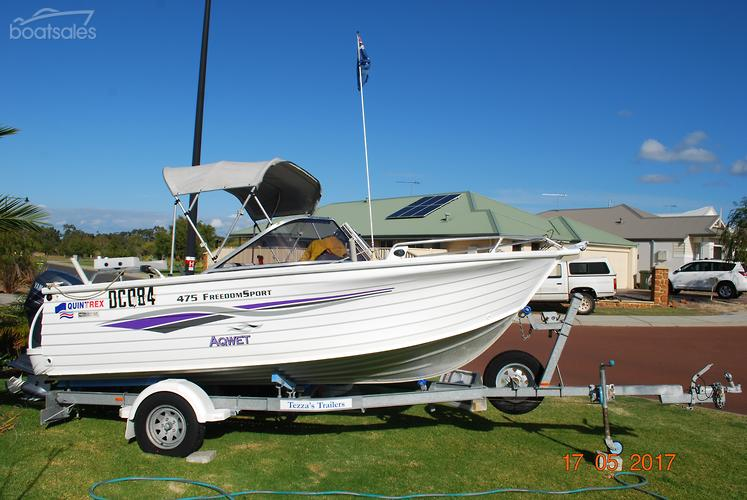 QUINTREX 475 FREEDOM SPORT BOWRIDER Boats with a V-Hull Hull
